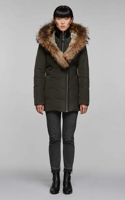 Mackage AKIVA hip length down coat with fur lined hood