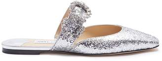 Jimmy Choo 'Gee' jewelled buckle glitter slides