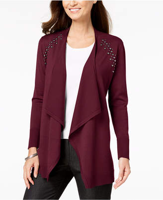 JM Collection Studded Cardigan