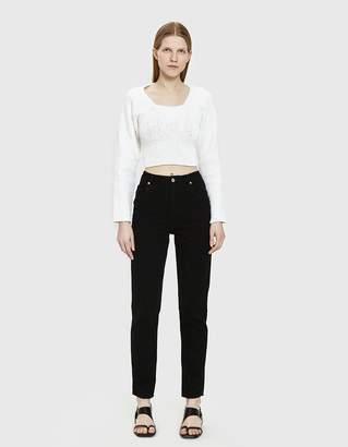 Eckhaus Latta El Straight Leg Jean in Black