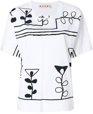 Marni abstract print T-shirt