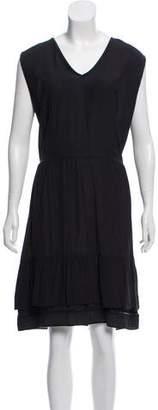 Marni Midi Leather Trim Dress