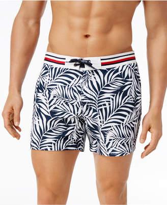 Tommy Hilfiger Men's Leaf-Print Swim Trunks $79.50 thestylecure.com
