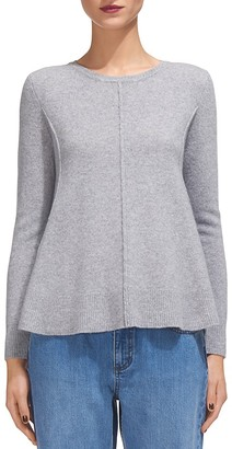 Whistles Boiled Wool Crewneck Sweater $210 thestylecure.com