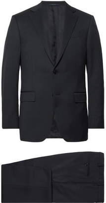 Ermenegildo Zegna Midnight-Blue Slim-Fit Wool-Twill Suit - Men - Midnight blue
