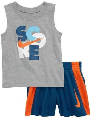 Nike Score Muscle Tank & Shorts Set