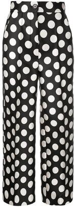 Dice Kayek high-waisted polka dot trousers