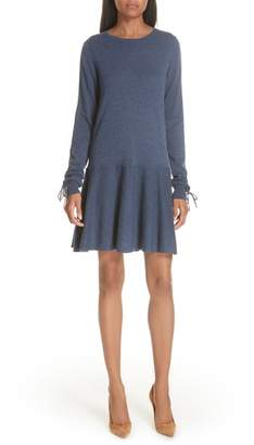 Autumn Cashmere Drop Waist Cashmere Dress