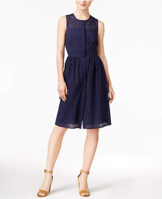 Maison Jules Cotton Eyelet Dress, Only at Macy's $99.50 thestylecure.com