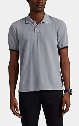 James Perse Men's Contrast-Tipped Cotton Piqué Polo Shirt - Gray