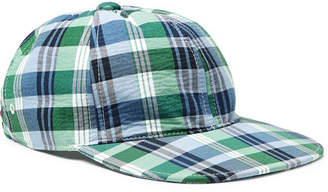 Thom Browne Grosgrain-Trimmed Checked Cotton Baseball Cap - Men - Blue 7211dc2e1245