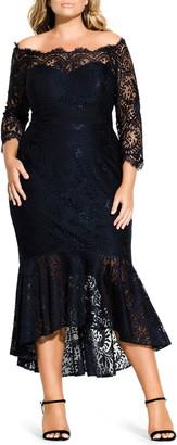 City Chic Estella Off the Shoulder Dress