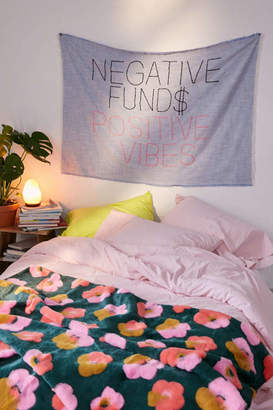 Urban Outfitters Amber Ibarreche X Negative Funds Positive Vibes Embroidered Tapestry