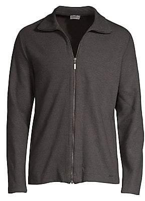 Hanro Men's Lewin Zip-Up Jacket