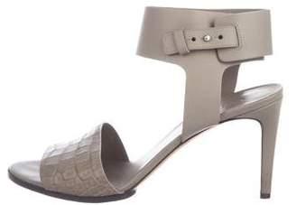 Vince Embossed Ankle-Strap Sandals