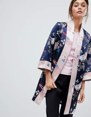 Ted Baker Chinoiserie Jacquard Kimono Coat