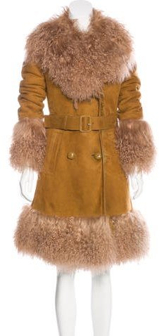 Gucci Pre-Fall 2015 Shearling Coat w/ Tags