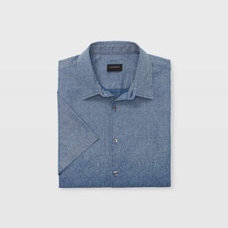 Club Monaco Slim Short-Sleeve Ombre Shirt