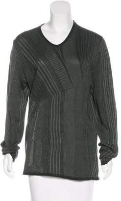 Emporio Armani Metallic Long Sleeve Top