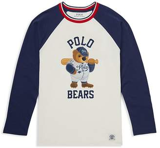 Polo Ralph Lauren Boys' Polo Bear Cotton Baseball Tee - Big Kid