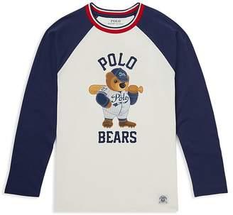 Polo Ralph Lauren Boys' Polo Bear Cotton Baseball Tee - Big Kid