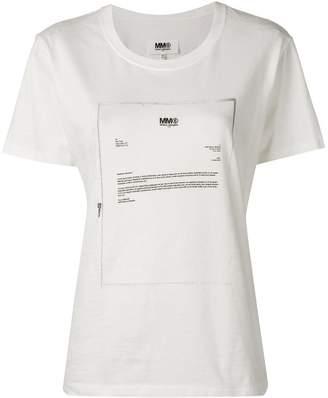 41a162e9 MM6 MAISON MARGIELA letter print T-shirt