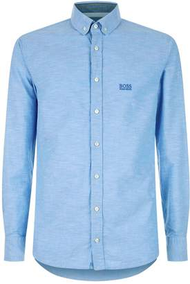 BOSS ORANGE Slim-Fit Textured Shirt