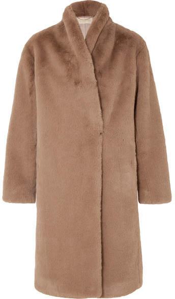Jerko Faux Fur Coat - Brown