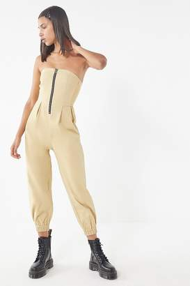 Urban Outfitters Echo Twill Zip-Front Jumpsuit