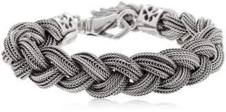 Emanuele Bicocchi Braided Silver Chain Bracelet