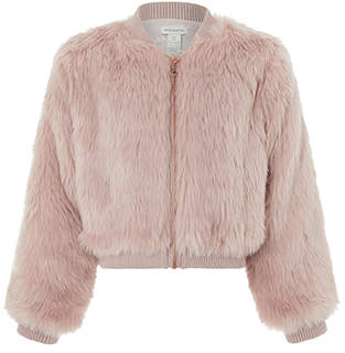 Monsoon Byzantine Faux Fur Bomber Jacket