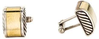 David Yurman Two-Tone Cufflinks