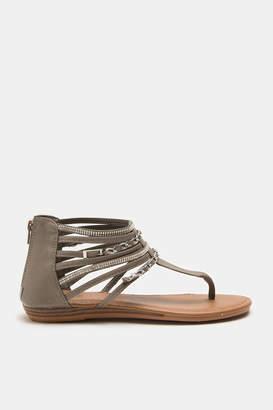 Ardene Caged T-Strap Sandals