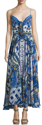 Camilla Embellished Tie-Front Coverup Dress, Rhythm & Blues $800 thestylecure.com
