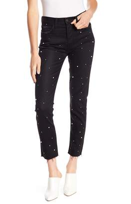 Siwy Denim Gaby Raw Edge Faux Pearl Embellished Jeans