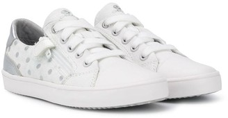 Geox Kids polka dot print sneakers