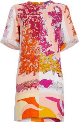 Emilio Pucci Primavera Silk Twill Shift Dress
