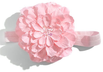 PLH Bows & Laces Flower Headband (Baby Girls & Toddler Girls)