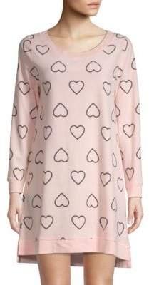 Betsey Johnson Heart-Print Scoopneck Sleepshirt