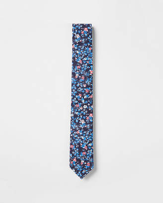 Express Slim Floral Cotton Tie