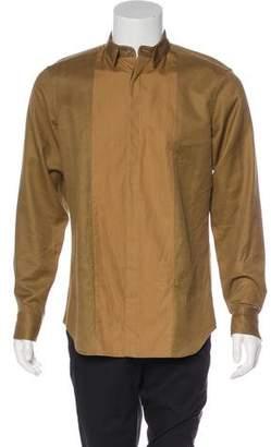 Calvin Klein Collection Hidden-Button Down Collar Shirt