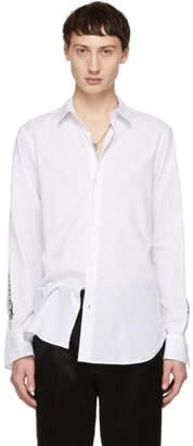 Ann Demeulemeester White Sleeve Print Shirt