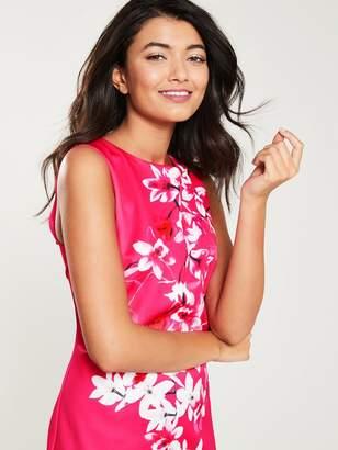 Wallis Magnolia Scuba Shift Dress - Pink