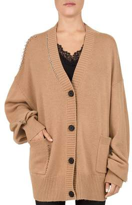 The Kooples Pierced Knit Cardigan