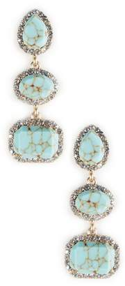 Natural Stone Drop Earrings $49.95 thestylecure.com