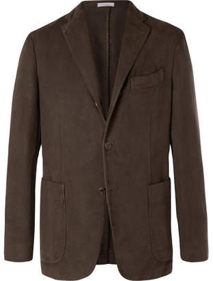 Boglioli Brown K-Jacket Cotton-Moleskin Blazer