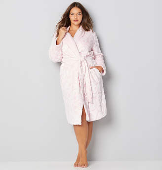 Avenue Pink Scroll Plush Robe