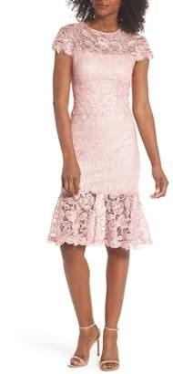Tadashi Shoji Alice Flounce Hem Lace Dress