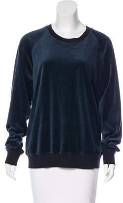 3.1 Phillip Lim Velour Crew Neck Sweater
