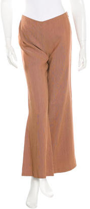 Jean Paul Gaultier Abstract Print Flared Pants w/ Tags $125 thestylecure.com